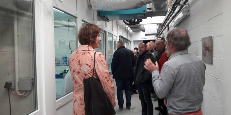 Visite d'une délégation estonienne au centre expérimental du SMEL (@ L. Paghent, Hisseo la Normandie)