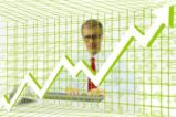 man and trading graph