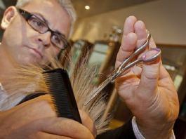 Hairdresser at work