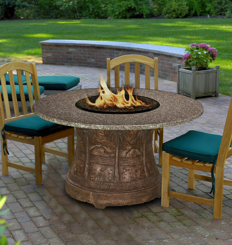Fire Pit Table Palm Dining Height Multi functional ... on Outdoor Dining Tables With Fire Pit id=28127