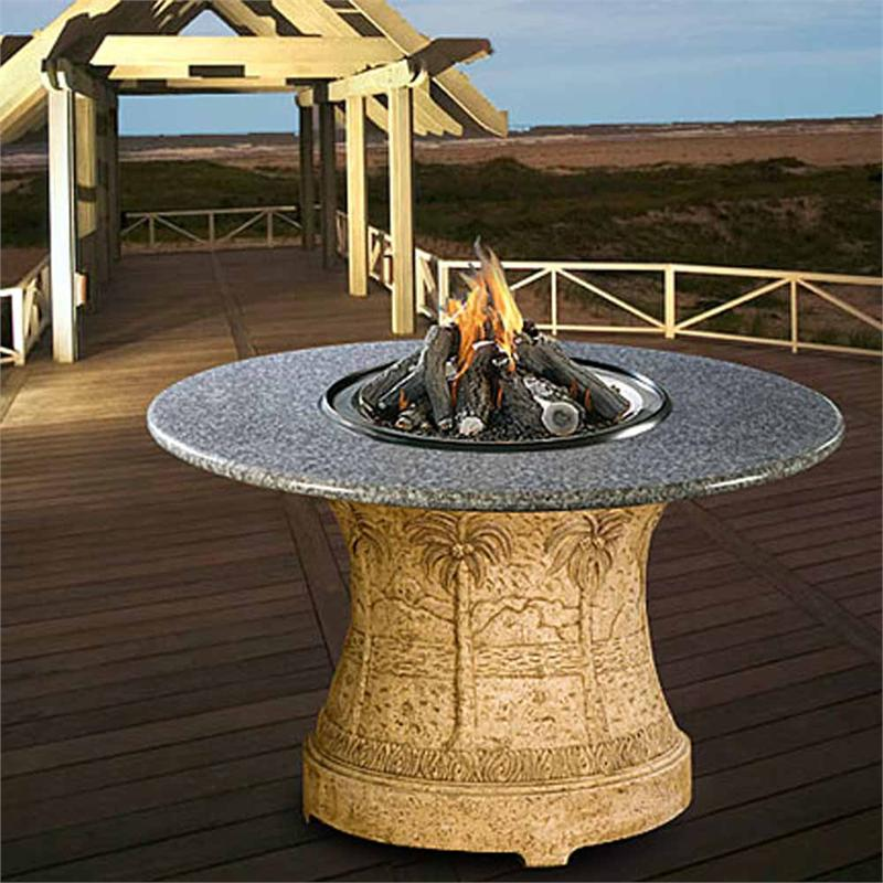 Palm Outdoor Dining Height Multifunctional Gas Logs Fire ... on Outdoor Dining Tables With Fire Pit id=38817