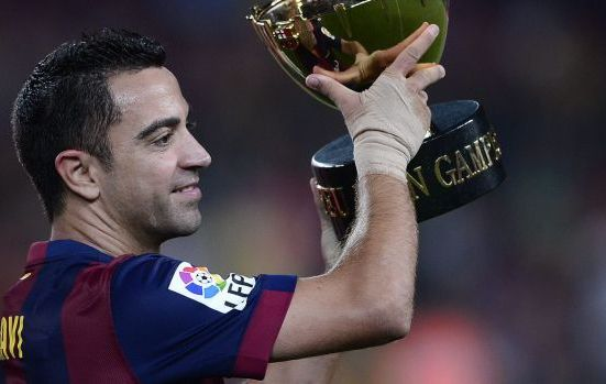 Heading for the exit: Xavi.