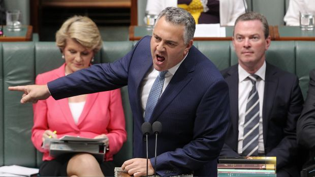 """Gone off his tits"": Treasurer Joe Hockey."