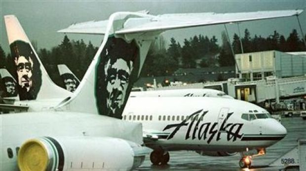 The pilot of Alaska Airlines Flight 448, bound for Los Angeles, reported hearing noises from beneath the aircraft within 14 minutes of taking off.