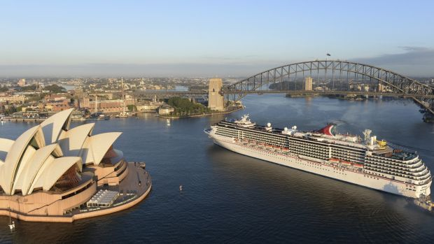 Large cruise ships are often too big to sail under the Harbour Bridge to Sydney's alternative passenger terminal at ...
