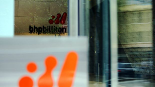 BHP shares hit a seven-year low in early trade.