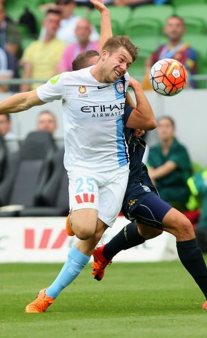 Melbourne City enforcer Jacob Melling likes to keep things ...