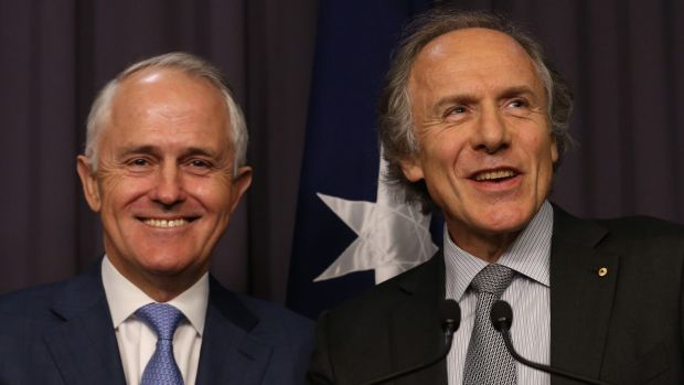 Prime Minister Malcolm Turnbull and Dr Alan Finkel.