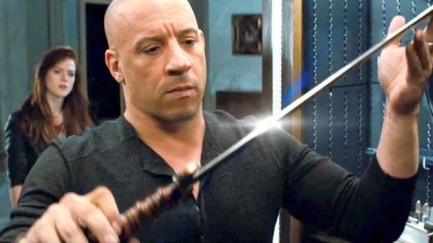 Supernatural slicer: Vin Diesel with his favourite piece of cutlery in The Last Witch Hunter.