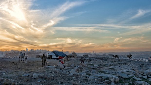 The refugee camp in Beirut.