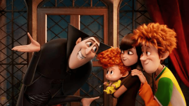 All in the family: The arrival of a grandson has Dracula suffering separation anxiety in the delightful Hotel Transylvania 2.