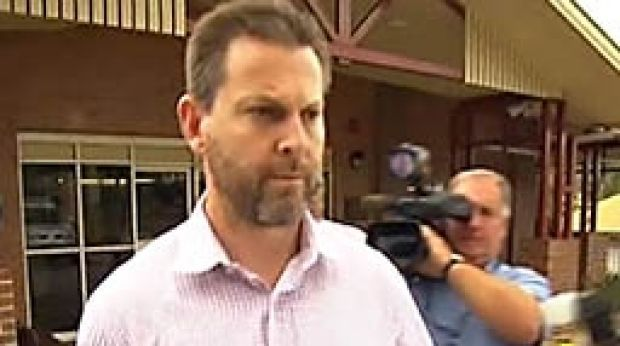 Gerard Baden-Clay leaves the police station.