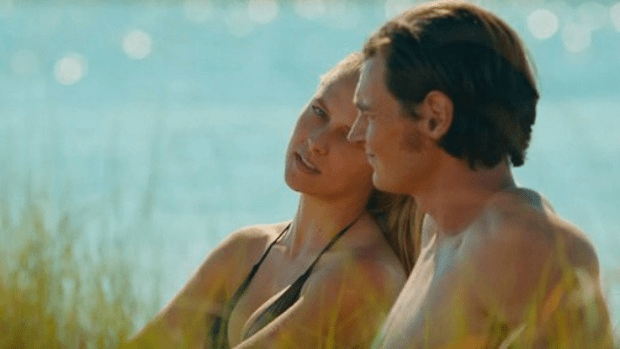Lovely mulch: Teresa Palmer and Benjamin Walker in the romance The Choice.
