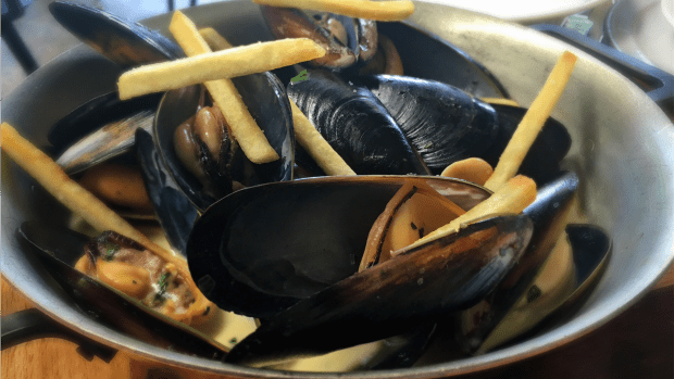 Those mussels were phenomenal, plump and just cooked.