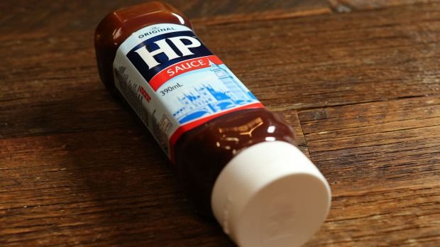 MELBOURNE, AUSTRALIA - DECEMBER 01: HP Sauce used by UK restaurateur Marco Pierre White , on December 1, 2015 in Melbourne, Australia. (Photo by Pat Scala/Fairfax Media)