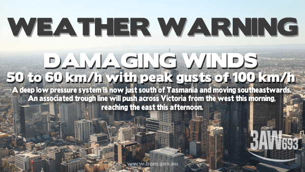 Weather warning.