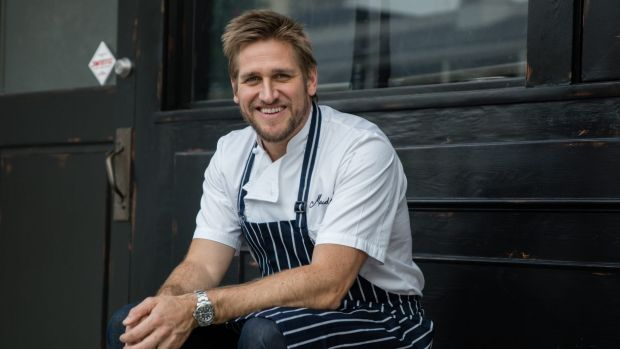 Curtis Stone at his restaurant Maude.