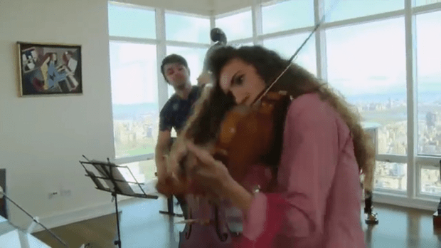 Selling strings: In New York the Carpenters show how to play and how to sell classical music.