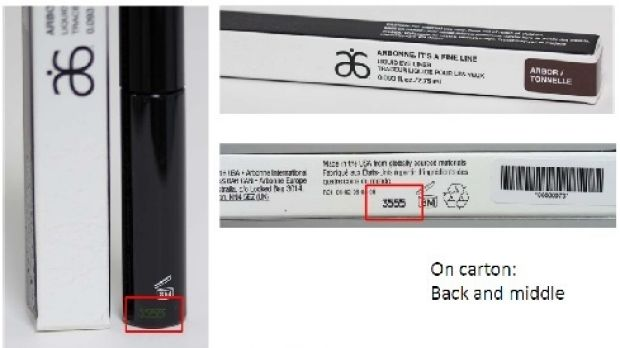 """The shipments of the brown Arbonne """"It's a Fine Line"""" liquid eyeliner that are being recalled."""