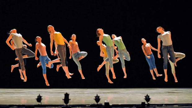 In the air: Members of Ohad Naharin