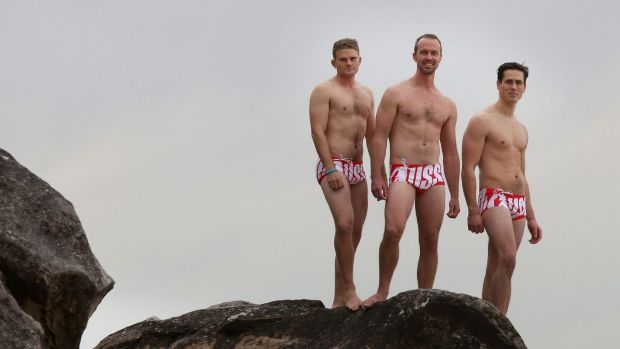 James Raxworthy, Ben Anderson and Blake Leonard are climbing to the peak of Mount  Kosciuszko in winter wearing only ...