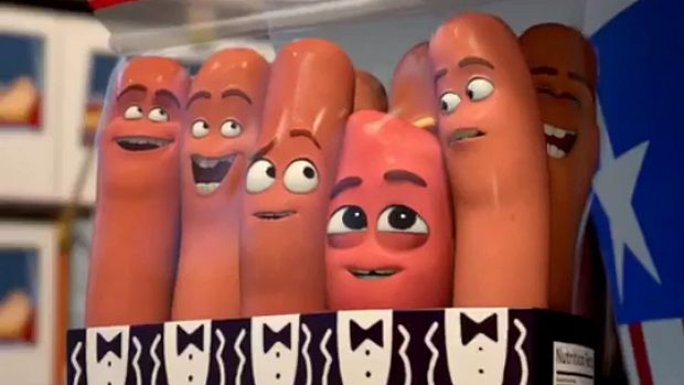 Package deal: The cast of Sausage Party soon discover that life