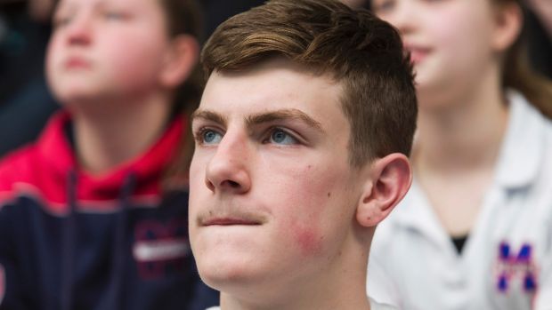 Chad Horton watches his brother at MSAC in Albert Park.