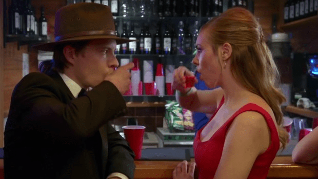 Face Off: Xavier Samuel and Morgan Griffin as the film