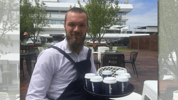 Barista and Melbourne footballer Max Gawn