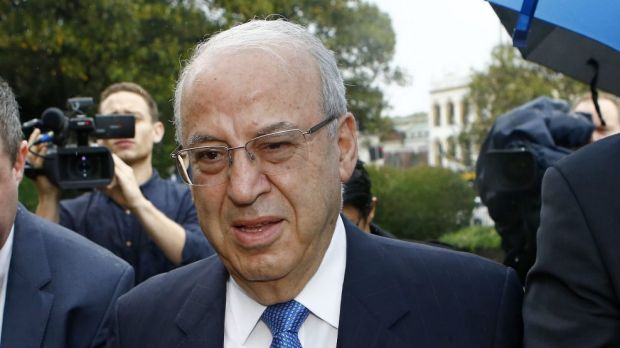 Eddie Obeid outside court this morning.