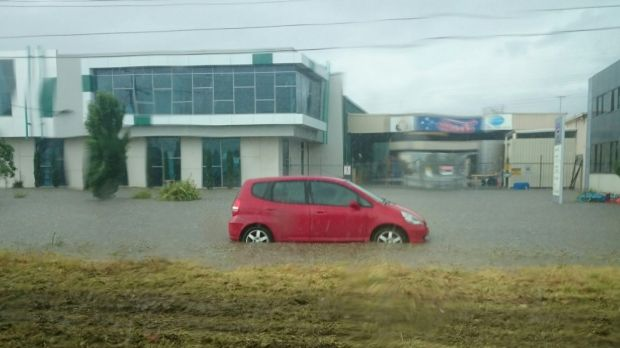 Flooding in Thomastown, from Gus.