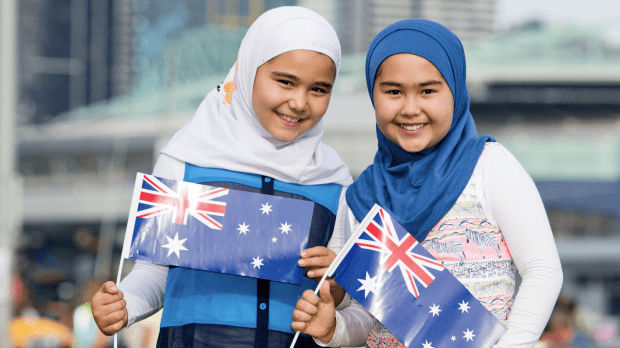 The original image used in the controversial billboard was taken at Docklands on Australia Day 2016, and featured on the Victorian government website.