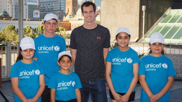 Andy Murray at Unicef Event at Langham, Melbourne.