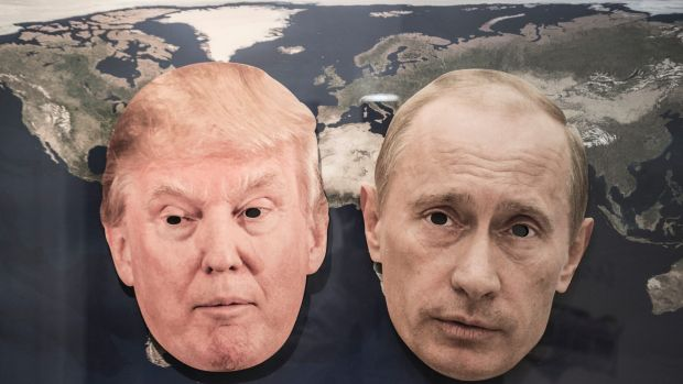 Donald Trump is enjoying a political bromance with Russian President Vladimir Putin. Digitally altered image.