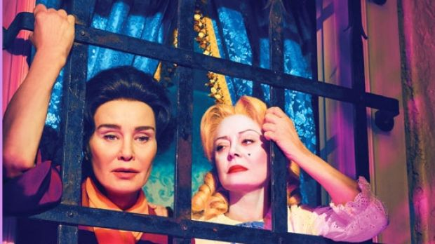 Bad girls: Jessica Lange (left) plays Joan Crawford to Susan Sarandon