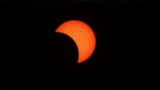 An image of a 2012 solar eclipse.