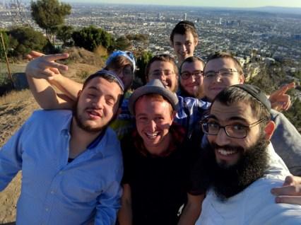 Friends on a hilltop