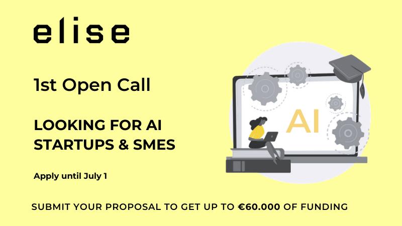 Aperta la prima Open Call di ELISE per soluzioni di Intelligenza Artificiale sviluppate da PMI e startup