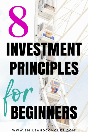 Know you need to start investing but just not that interested? Check out my 8 investment principles for beginners!