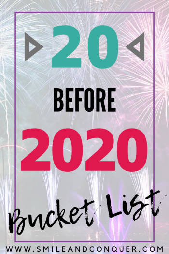 New Years Resolutions are overrated. To change things up for 2019 I've come up with a 20 before 2020 bucket list! #goals