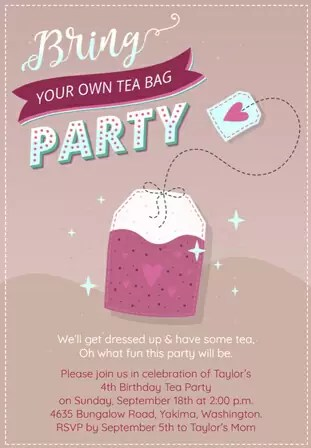 perfect tea party invitations