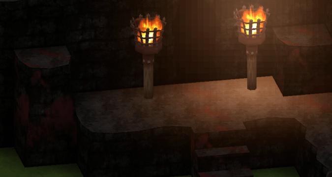"Smile Game Builder High Quality Assets: ""Old Ruins"" Bloddied Cave Entrance"