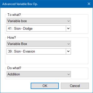 Fig. 12 - Add Evasion - Variables Part 4