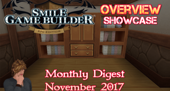 Smile Game Builder Monthly Digest November 2017