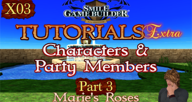 SMILE GAME BUILDER Tutorials Extra #X03: Marie's Flowers