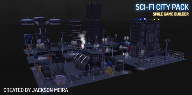 Sci-Fi City Pack Smile Game Builder (Jackson Meira)