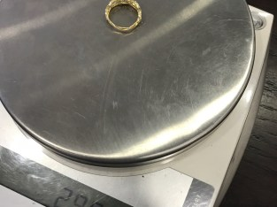 18k Gold Hand made ring 2.9g