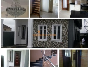 Brand new 4 bedroom detached house with wardrobe,jaccuzi,interlocked compound @ Lekki