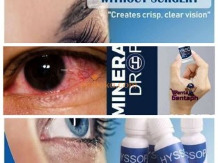 Mineral Eye drop ( Goodbye to Eye glasses, Contact Lenses or Chemical Eye drops )