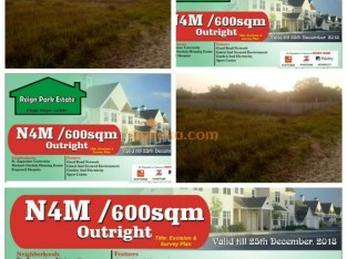 LAND FOR SALE At REIGN PARK ESTATE ( LEKKI ) CALL OR WHATSAPP NOW NOW WHILE AVAILABLE !!!